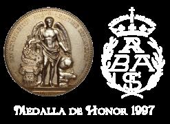 Medalla de Honor 1997 Real Academia de Bellas Artes de San Fernando